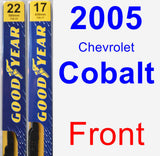 Front Wiper Blade Pack for 2005 Chevrolet Cobalt - Premium