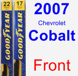 Front Wiper Blade Pack for 2007 Chevrolet Cobalt - Premium