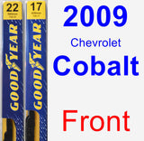 Front Wiper Blade Pack for 2009 Chevrolet Cobalt - Premium
