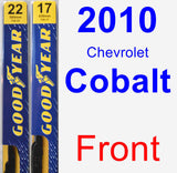 Front Wiper Blade Pack for 2010 Chevrolet Cobalt - Premium
