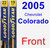 Front Wiper Blade Pack for 2005 Chevrolet Colorado - Premium