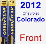 Front Wiper Blade Pack for 2012 Chevrolet Colorado - Premium