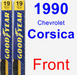 Front Wiper Blade Pack for 1990 Chevrolet Corsica - Premium