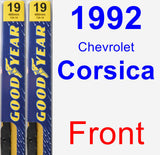 Front Wiper Blade Pack for 1992 Chevrolet Corsica - Premium
