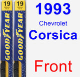 Front Wiper Blade Pack for 1993 Chevrolet Corsica - Premium