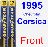 Front Wiper Blade Pack for 1995 Chevrolet Corsica - Premium