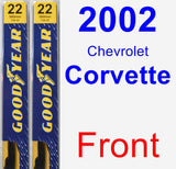 Front Wiper Blade Pack for 2002 Chevrolet Corvette - Premium
