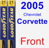 Front Wiper Blade Pack for 2005 Chevrolet Corvette - Premium