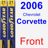 Front Wiper Blade Pack for 2006 Chevrolet Corvette - Premium