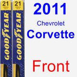 Front Wiper Blade Pack for 2011 Chevrolet Corvette - Premium