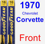 Front Wiper Blade Pack for 1970 Chevrolet Corvette - Premium