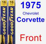 Front Wiper Blade Pack for 1975 Chevrolet Corvette - Premium