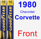 Front Wiper Blade Pack for 1980 Chevrolet Corvette - Premium