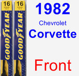 Front Wiper Blade Pack for 1982 Chevrolet Corvette - Premium