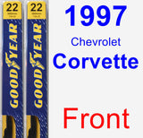 Front Wiper Blade Pack for 1997 Chevrolet Corvette - Premium