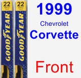 Front Wiper Blade Pack for 1999 Chevrolet Corvette - Premium