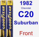 Front Wiper Blade Pack for 1982 Chevrolet C20 Suburban - Premium