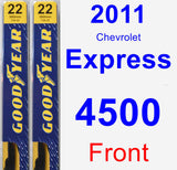 Front Wiper Blade Pack for 2011 Chevrolet Express 4500 - Premium