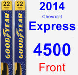 Front Wiper Blade Pack for 2014 Chevrolet Express 4500 - Premium