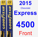 Front Wiper Blade Pack for 2015 Chevrolet Express 4500 - Premium