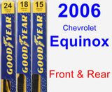 Front & Rear Wiper Blade Pack for 2006 Chevrolet Equinox - Premium