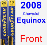 Front Wiper Blade Pack for 2008 Chevrolet Equinox - Premium
