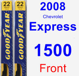 Front Wiper Blade Pack for 2008 Chevrolet Express 1500 - Premium