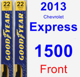 Front Wiper Blade Pack for 2013 Chevrolet Express 1500 - Premium
