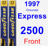 Front Wiper Blade Pack for 1997 Chevrolet Express 2500 - Premium