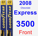 Front Wiper Blade Pack for 2008 Chevrolet Express 3500 - Premium