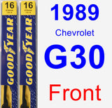 Front Wiper Blade Pack for 1989 Chevrolet G30 - Premium