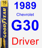 Driver Wiper Blade for 1989 Chevrolet G30 - Premium