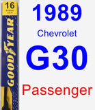 Passenger Wiper Blade for 1989 Chevrolet G30 - Premium