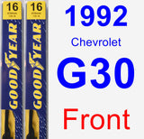 Front Wiper Blade Pack for 1992 Chevrolet G30 - Premium