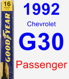 Passenger Wiper Blade for 1992 Chevrolet G30 - Premium