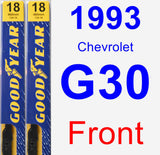 Front Wiper Blade Pack for 1993 Chevrolet G30 - Premium