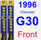 Front Wiper Blade Pack for 1996 Chevrolet G30 - Premium