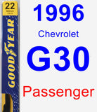 Passenger Wiper Blade for 1996 Chevrolet G30 - Premium