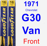 Front Wiper Blade Pack for 1971 Chevrolet G30 Van - Premium
