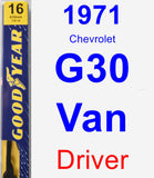 Driver Wiper Blade for 1971 Chevrolet G30 Van - Premium