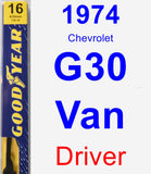 Driver Wiper Blade for 1974 Chevrolet G30 Van - Premium