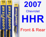 Front & Rear Wiper Blade Pack for 2007 Chevrolet HHR - Premium
