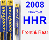 Front & Rear Wiper Blade Pack for 2008 Chevrolet HHR - Premium