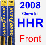 Front Wiper Blade Pack for 2008 Chevrolet HHR - Premium