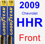 Front Wiper Blade Pack for 2009 Chevrolet HHR - Premium