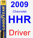 Driver Wiper Blade for 2009 Chevrolet HHR - Premium