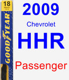 Passenger Wiper Blade for 2009 Chevrolet HHR - Premium
