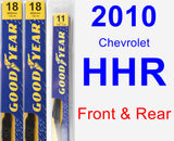 Front & Rear Wiper Blade Pack for 2010 Chevrolet HHR - Premium