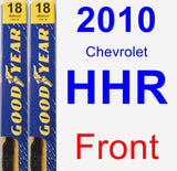 Front Wiper Blade Pack for 2010 Chevrolet HHR - Premium