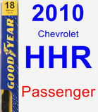 Passenger Wiper Blade for 2010 Chevrolet HHR - Premium